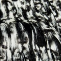 Fausse fourrure au mètre Tissu fausse fourrure yeti noir et blanc – 7549 Black/White