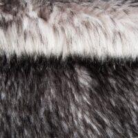 Fausse fourrure au mètre Tissu fausse fourrure imitation raccoon argenté – 8100 Silver