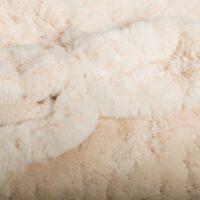 Fausse fourrure au mètre Tissu fausse fourrure texturé ivoire – 8504 Ivory
