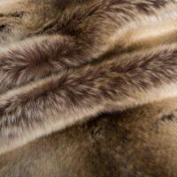 Fausse fourrure au mètre Tissu fausse fourrure au mètre imitation chinchilla/lapin brun – 1578 Brown/Gold