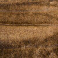 Fausse fourrure au mètre Tissu fausse fourrure au mètre imitation renard strié beige – 2100 Beige/Brown/Fox