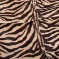 Fausse fourrure au mètre Tissu fausse fourrure au mètre imitation zèbre brun et beige – 2RK365 Beige/Brown
