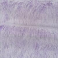 Fausse fourrure au mètre Tissu fausse fourrure violet givré à poil long au mètre – YF 306 Heliotrope Frost