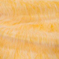 Fausse fourrure au mètre Tissu fausse fourrure jaune givré à poil long au mètre – YF 306 M.Gold Frost