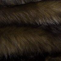 Fausse fourrure au mètre Tissu fausse fourrure au mètre imitation ours vert kaki – 6034 Khaki/Black