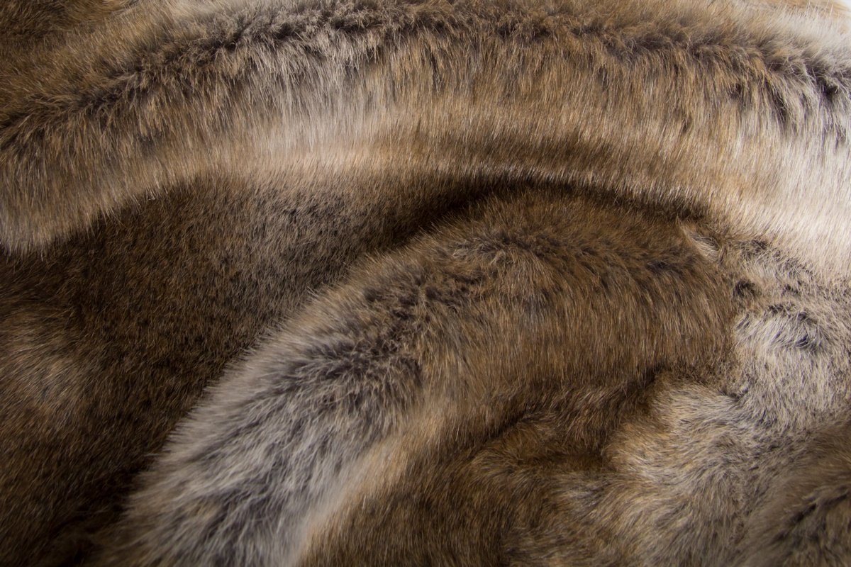 Super Luxe Fausse Fourrure Tissu Matériau-Swiss opale gris