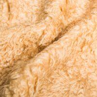 Fausse fourrure au mètre Tissu fausse fourrure teddy au mètre imitation mouton beige – YF 305 Lt.Brandy