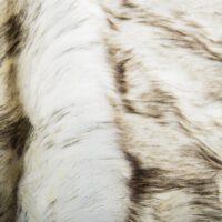 Fausse fourrure au mètre Tissu fausse fourrure au mètre imitation renard blanc à pointes noires – 7571 White/Black