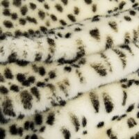 Fausse fourrure au mètre Tissu fausse fourrure au mètre imitation léopard noir et blanc – 7580 R. White/Black