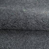 Fausse fourrure au mètre Tissu fausse fourrure teddy au mètre imitation mouton gris – YF 232 Granite