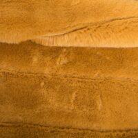 Fausse fourrure au mètre Tissu fausse fourrure au mètre imitation lapin jaune moutarde / rayures horizontales – 2R335 Autumn Gold