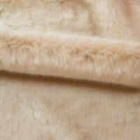 Fausse fourrure au mètre Tissu fausse fourrure au mètre imitation vison/lapin beige – 6003 Beige