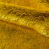 Fausse fourrure au mètre Tissu fausse fourrure au mètre super doux jaune – 6006 Flash Yellow