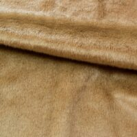 Fausse fourrure au mètre Tissu fausse fourrure au mètre à poil ras brun clair – 6029 Vicuna