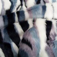 Fausse fourrure au mètre Tissu fausse fourrure au mètre patches nuances de bleu – 6032 Blue