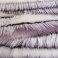 Fausse fourrure au mètre Tissu fausse fourrure violet à effet méché – 1613 Lilac/White