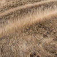 Fausse fourrure au mètre Tissu fausse fourrure au mètre imitation renard brun/gris – 1457 Beige