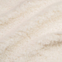 Fausse fourrure au mètre Tissu fausse fourrure de luxe teddy crème, 100% recyclé – 2R402 Cream