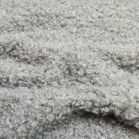 Fausse fourrure au mètre Tissu fausse fourrure de luxe bouclé gris clair, 100% recyclé – 2R403 Lt.Grey