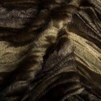 Fausse fourrure au mètre Tissu fausse fourrure texturé imitation vison brun et gris pierre – 7588 Stone/Brown