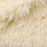 Fausse fourrure au mètre Tissu fausse fourrureau mètreagneau de Mongolie crème – 3129 Cream