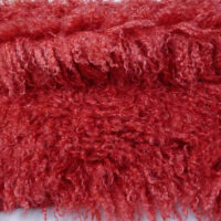 Fausse fourrure au mètre Tissu fausse fourrureau mètreagneau de Mongolie rouge – 3129 Red Haze