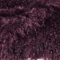 Fausse fourrure au mètre Tissu fausse fourrureau mètreagneau de Mongolie violet lie de vin – 3129 Wine