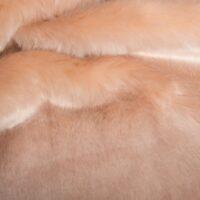 Fausse fourrure au mètre Tissu fausse fourrure au mètre imitation vison/lapin saumon – 6003 Salmon