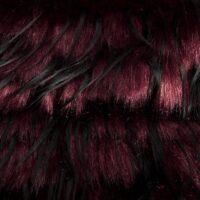 Fausse fourrure au mètre Tissu fausse fourrure au mètre effet méché rouge foncé – 1604 Wine Black