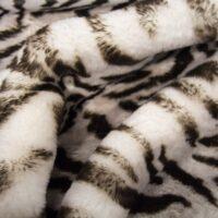 Fausse fourrure au mètre Tissu fausse fourrure super doux imprimé tigre – 3105 Tiger Grey