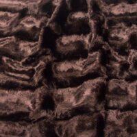 Fausse fourrure au mètre Tissu fausse fourrure texturé au mètre imitation vison, violet – 802 Aubergine