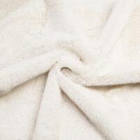 Fausse fourrure au mètre Fausse fourrure pas chère crème à poil court –  W2/60 Cream