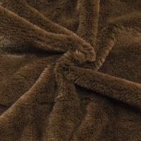 Fausse fourrure au mètre Fausse fourrure pas chère brun malt à poil court –  W2/60 Malt