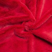 Fausse fourrure au mètre Fausse fourrure pas chère rouge à poil court –  W2/60 R.Red