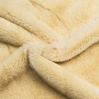 Fausse fourrure au mètre Fausse fourrure pas chère beige clair à poil court –  W2/60 Toffee