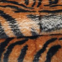 Fausse fourrure au mètre Tissu fausse fourrure super doux imprimé tigre brun – 3105 Tiger Brown