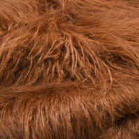 Fausse fourrure au mètre Fausse fourrure brun cuir agneau de Mongolie super douce – 4046 Brown