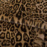 Fausse fourrure au mètre Tissu fausse fourrure au mètre imitation léopard brun – 3127 Taupe/Brown