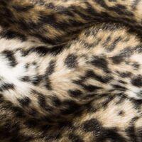 Fausse fourrure au mètre Tissu fausse fourrure au mètre imitation jaguar texturé, brun doré et noir – 1620 Gold/Black