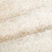 Fausse fourrure au mètre Tissu fausse fourrure au mètre imitation mouton/teddy crème – 6016 Cream