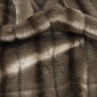 Fausse fourrure au mètre Tissu fausse fourrure au mètre imitation vison texturé gris praline – 6004 Praline