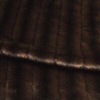 Fausse fourrure au mètre Tissu fausse fourrure au mètre imitation vison texturé brun – 6004 Red Brown