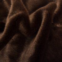 Fausse fourrure au mètre Tissu fausse fourrure au mètre imitation vison brun clair – 6005 Dk.Brown
