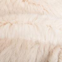 Fausse fourrure au mètre Tissu fausse fourrure au mètre super doux, strié, beige clair – 6007 Light Beige